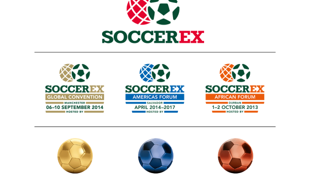 What do you get when you cross football and business? A retro looking new logo for Soccerex