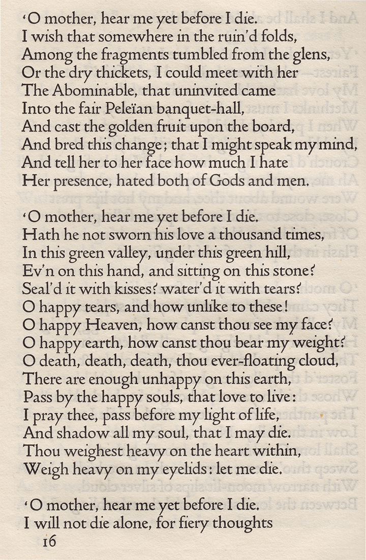 Tennyson Page from Doves Press
