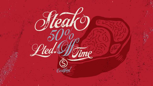 Script Font - Steak