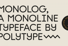 Font of the Week - Monolog