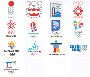 Previous Winter Olympic logos. Sarajevo is my fave!